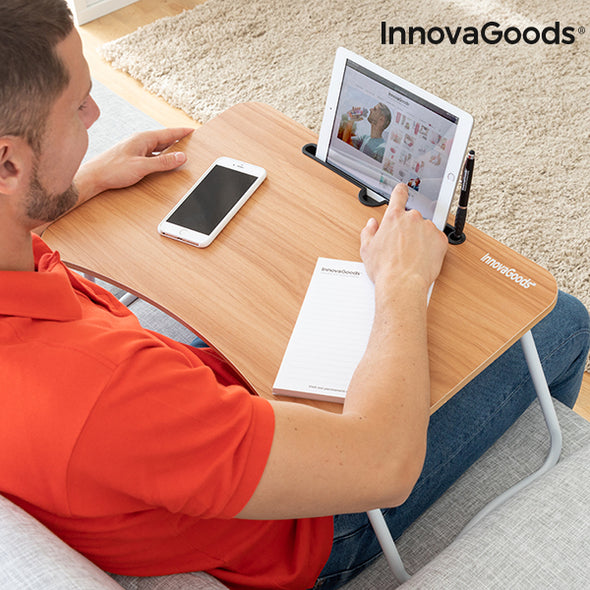 Innovagoods Multifunction bed/lap/desk work table/riser