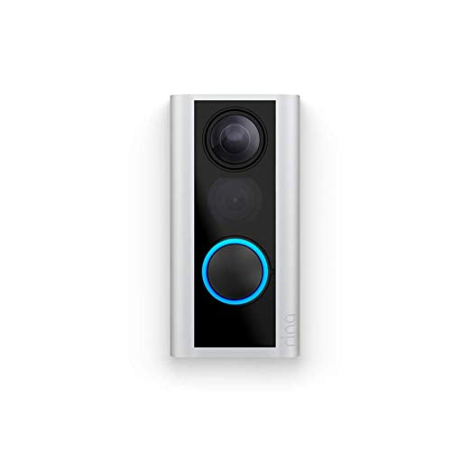 Ring Peephole Cam - Smart video doorbell, HD video, 2-way talk, easy installation - Satin Nickel