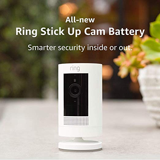 Ring Stick Up Cam Battery, Gen 2, HD security camera with two-way talk, Works with Alexa