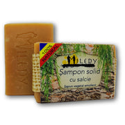 Sampon solid natural cu extract din scoarta de salcie