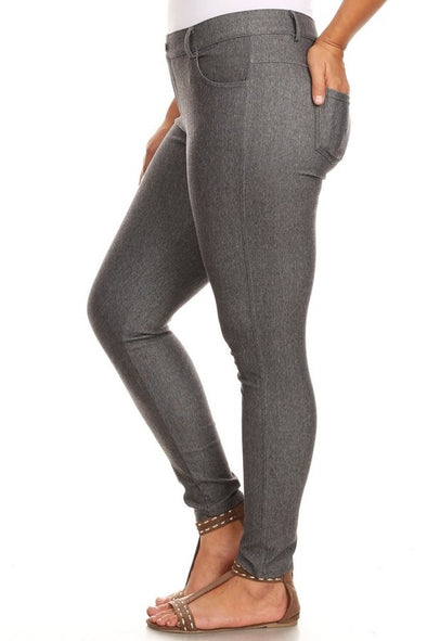 Soft Skinny Colored Leggings - Plus
