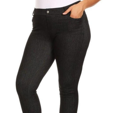 Soft Skinny Denim Leggings - Plus