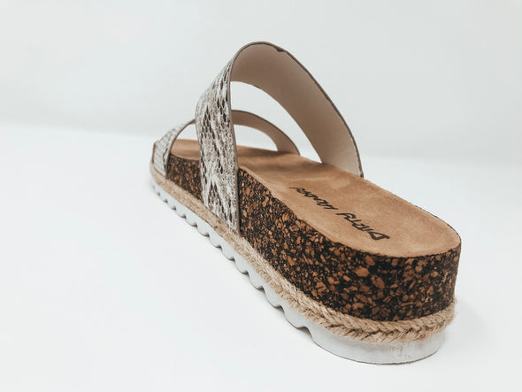 Double Play Slide Sandal - Snake
