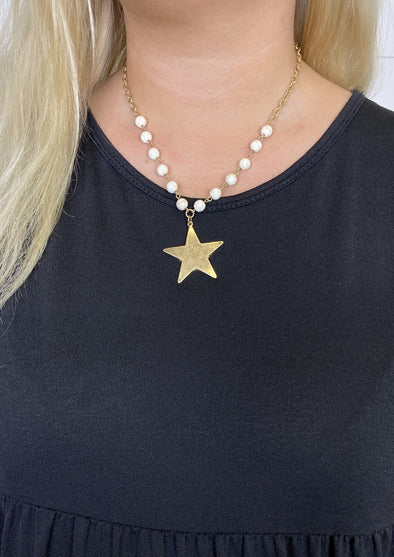 Star & Stone Bead Necklace
