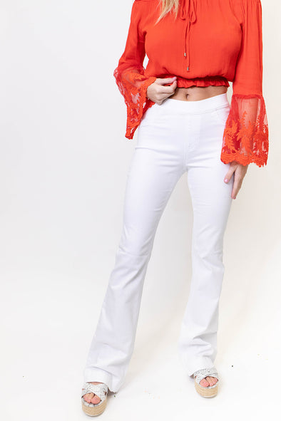 Pull on Flares - White
