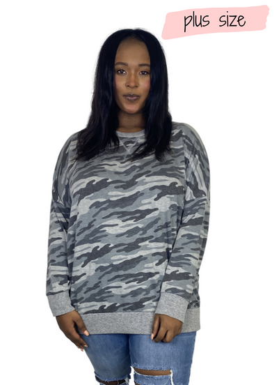 PLUS Piper Camo Top