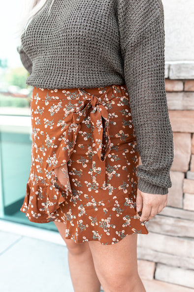 Ditsy Flower Wrap Skirt