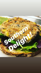 Southern Delight - Black Bean patty  WRP *