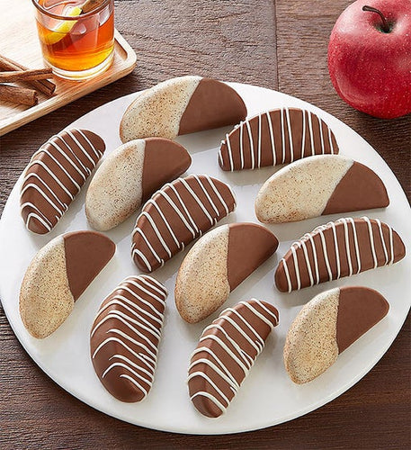 Chocolate covered cinnamon apples
