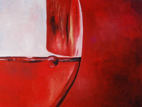 A Glass of Wine - Art Print