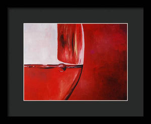 A Glass of Wine - Framed Print