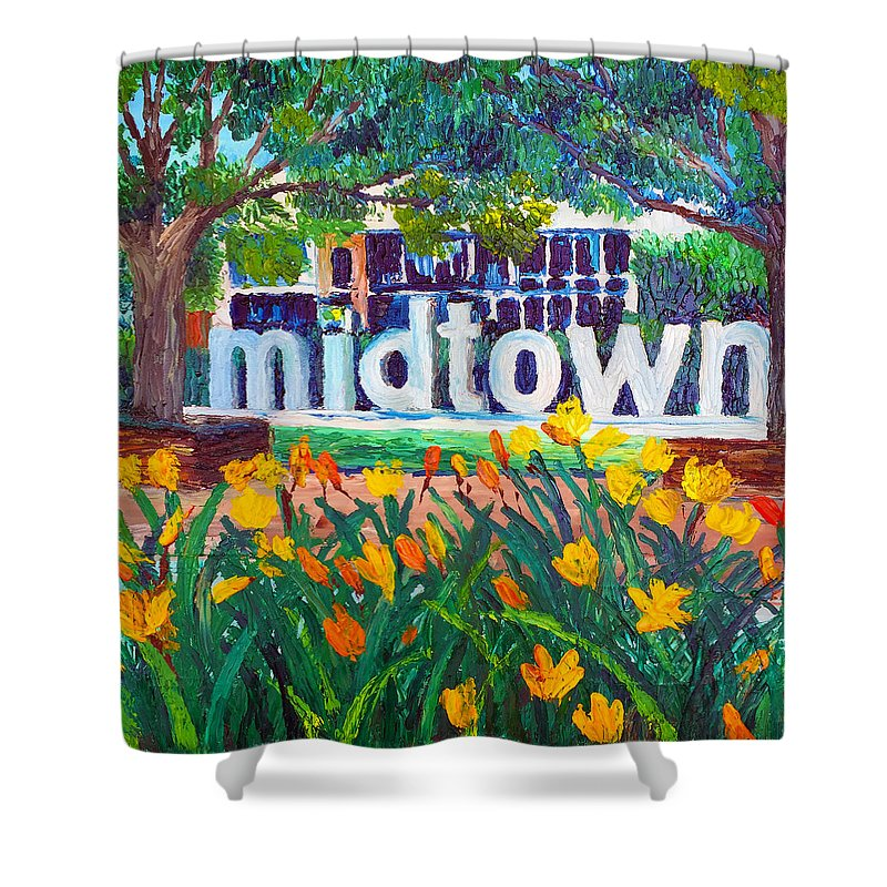 Midtown In Bloom - Shower Curtain