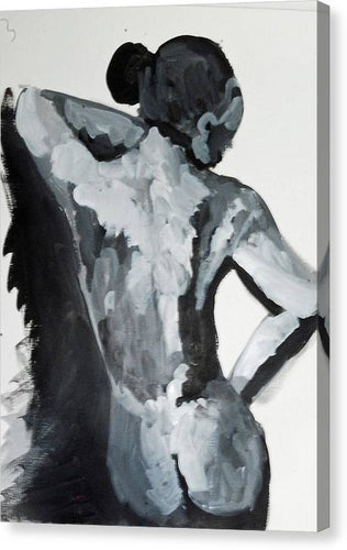 Black White Nude - Canvas Print