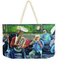 Load image into Gallery viewer, Blues Bench - Weekender Tote Bag