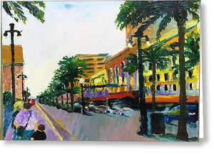 Canal St.  - Greeting Card