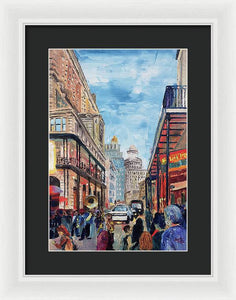 Down In The Quarters - Framed Print