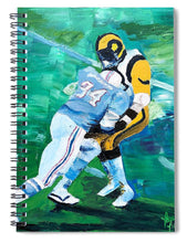 Load image into Gallery viewer, Earl Campbell runs over Rams - Spiral Notebook