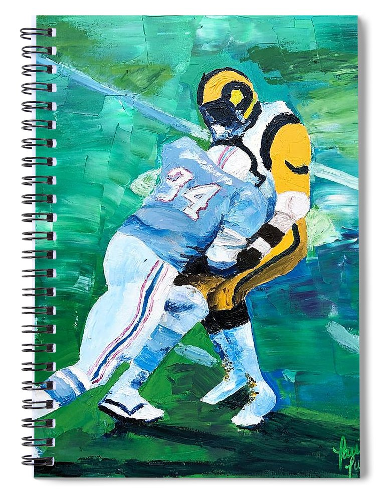 Earl Campbell runs over Rams - Spiral Notebook