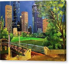 Load image into Gallery viewer, Footbridge at Buffalo Bayou - Canvas Print