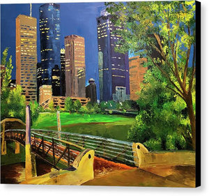 Footbridge at Buffalo Bayou - Canvas Print