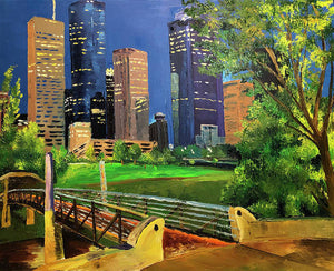 Footbridge at Buffalo Bayou - Art Print