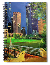Load image into Gallery viewer, Footbridge at Buffalo Bayou - Spiral Notebook