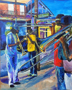 Frenchmen St., New Orleans - Art Print