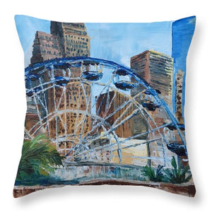 Houston Aquarium - Throw Pillow