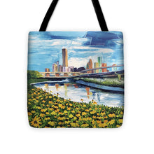 Load image into Gallery viewer, Houston Helianthus on White Oak - Tote Bag
