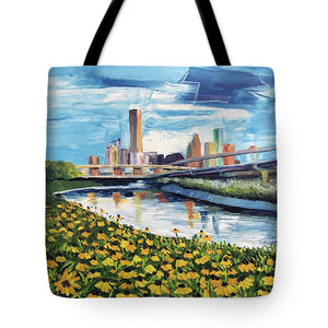 Houston Helianthus on White Oak - Tote Bag