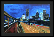 Load image into Gallery viewer, Houston Night Moves - Framed Print