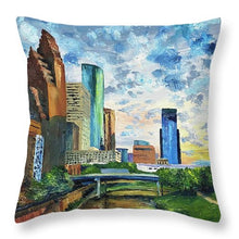 Load image into Gallery viewer, Houston Skies - Throw Pillow