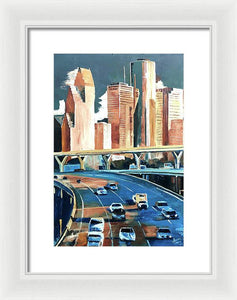 Houston Space City - Framed Print