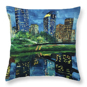Houston's Reflections - Throw Pillow