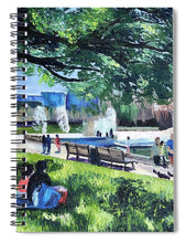 Load image into Gallery viewer, Lunch at Hermann Park - Spiral Notebook