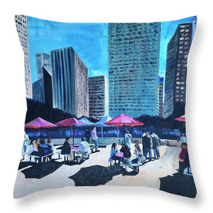 Lunch with Titans - Throw Pillow