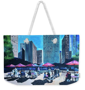 Lunch with Titans - Weekender Tote Bag
