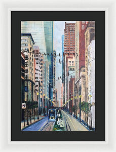 Main Street Flock - Framed Print