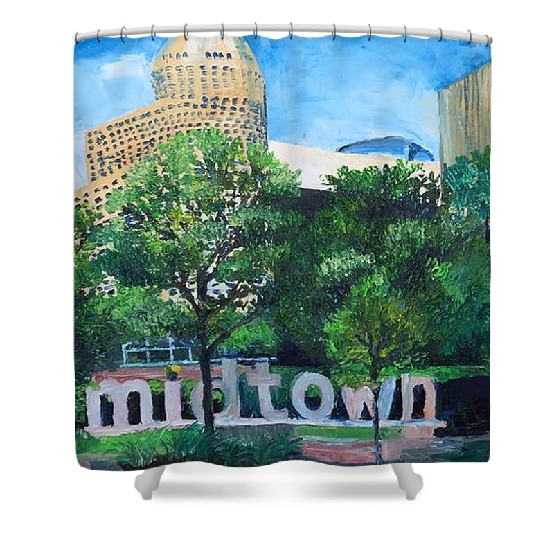 Midtown Skyline - Shower Curtain