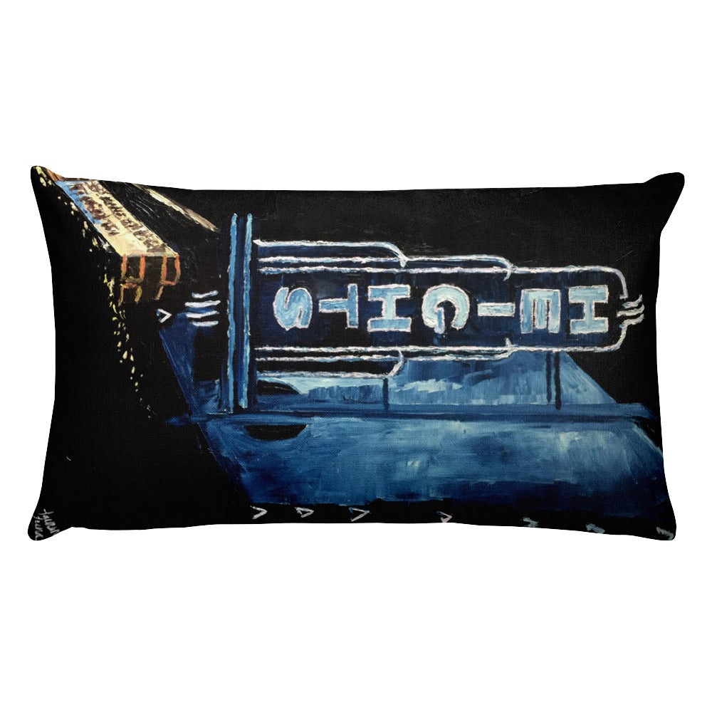 The Heights, At Night Rectangular Pillow