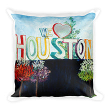 Load image into Gallery viewer, We <3 Houston Square Pillow