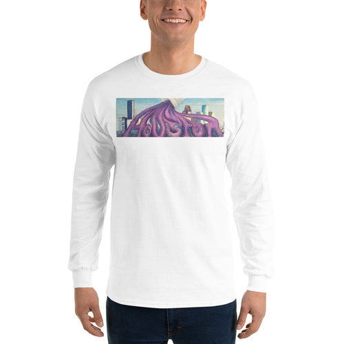 Purple Houston Men's Long Sleeve Shirt