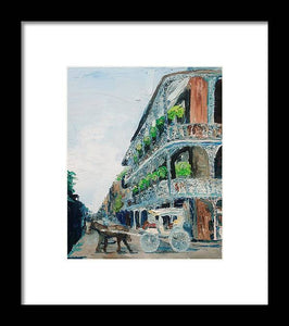 NOLA Carriage Ride - Framed Print