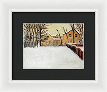 Load image into Gallery viewer, Ohio Snow - Framed Print