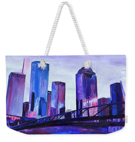 Purple Sky on the Bayou - Weekender Tote Bag