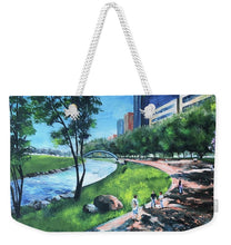 Load image into Gallery viewer, Riverwalk  - Weekender Tote Bag