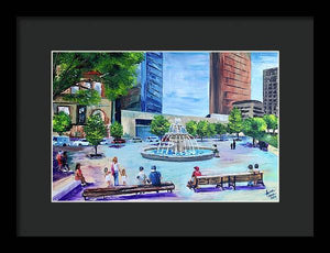 Roberts Park at Lunchtime - Framed Print