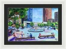 Load image into Gallery viewer, Roberts Park at Lunchtime - Framed Print