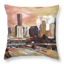 Load image into Gallery viewer, Sepia Houston - Throw Pillow