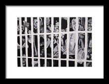 Load image into Gallery viewer, Some of the 210 demonstrators jailed wave from their cell 1964 - Framed Print